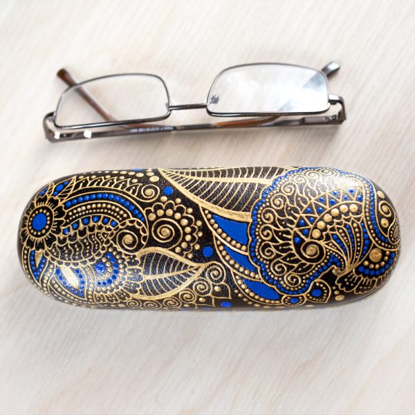 Blue glasses case