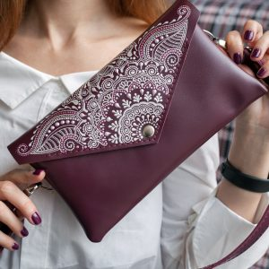 Burgundy belt bag