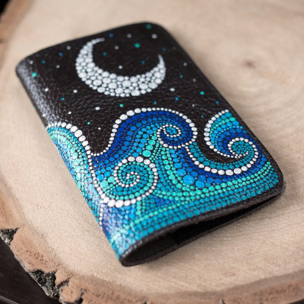 Sea and moon passport cover
