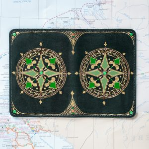 Wind rose passport cover